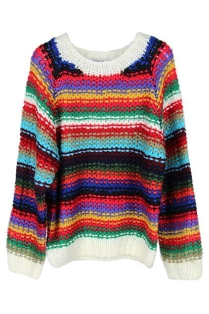 Ombre Strip Floral Jumper