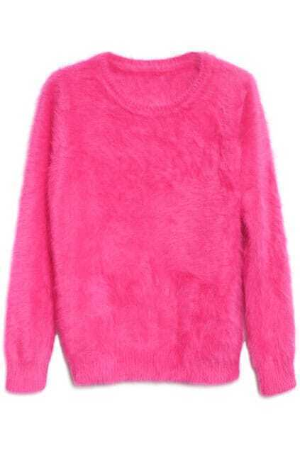 Scoop Collar Rose Jumper