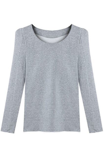 Puff Sleeve Grey Pullover