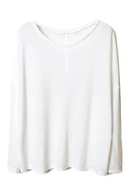 Loose Magyar White Pullover
