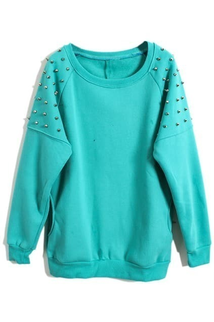 Stud Pocket Green Pullover