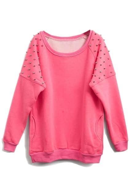 Stud Pocket Pink Pullover