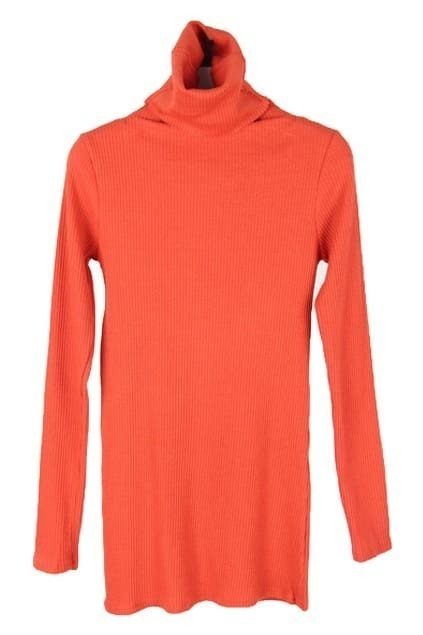 Thread Turtleneck Orange T-shirt