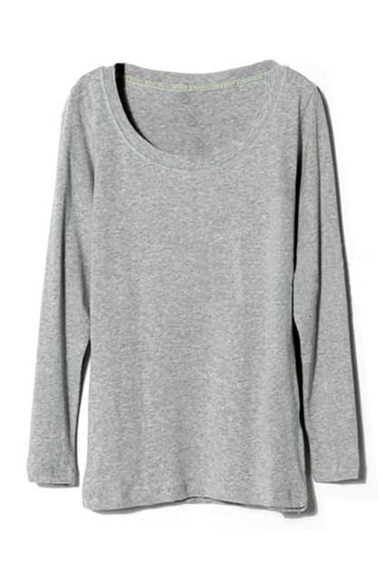Solid Color Grey Pullover