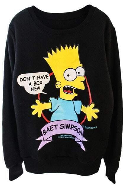 Roy's Dialogue Print Black Sweatshirt