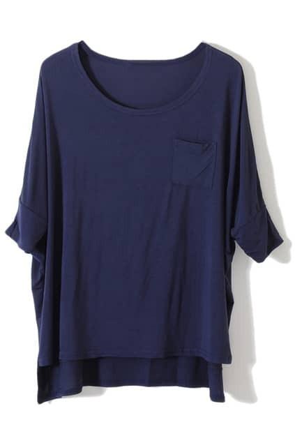 Asymmetric Magyars Dark-blue T-shirt