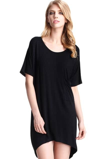Black T-Shirt With Front Pocket