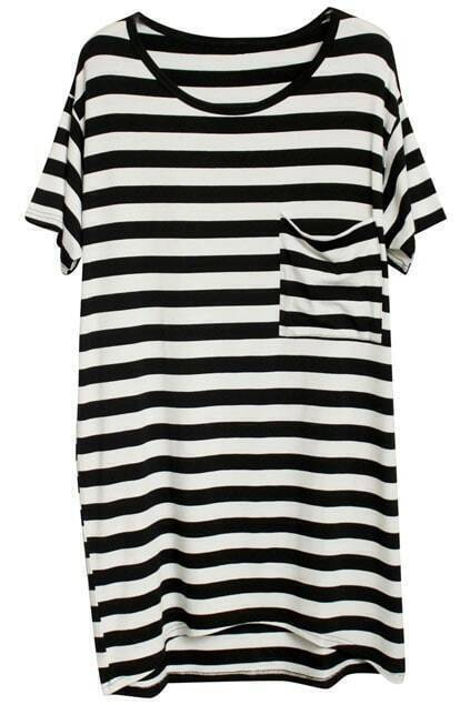 Stripe T-Shirt With Front Pocket