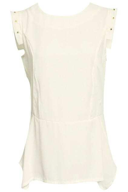 Riveted Cuffs White T-shirt