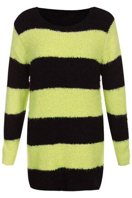 Fluffy Yellow-black Striped Dress