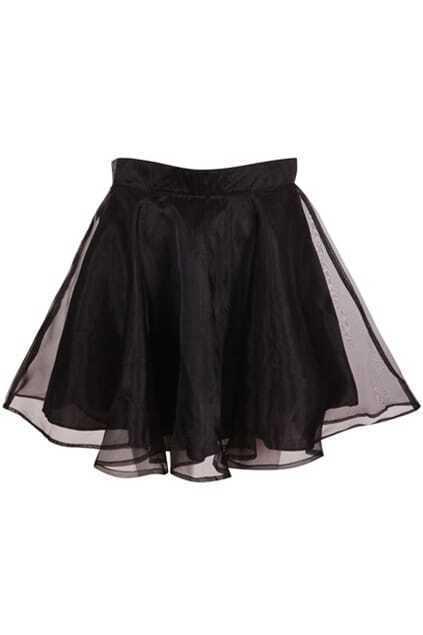 Lightsome Black Puff Skirt