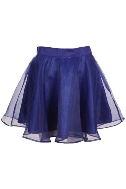 Lightsome Blue Puff Skirt