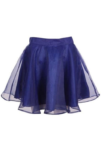 Lightsome Blue Puff Skirt
