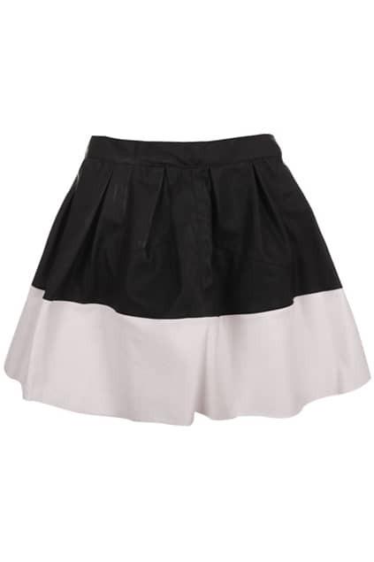 Color Block Black-white Skirt