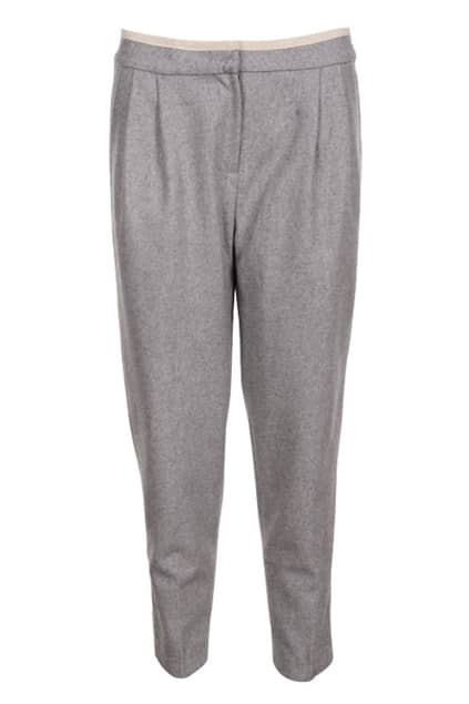 Pleated Grey Harem Pants