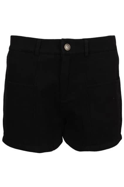 Waistbelted Black Shorts