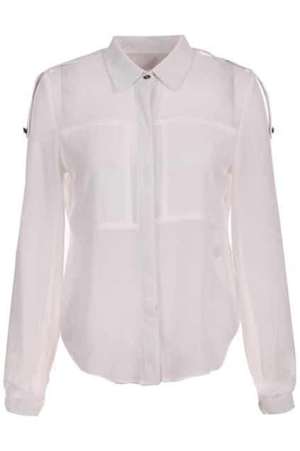 Shoulder Knot White Shirt