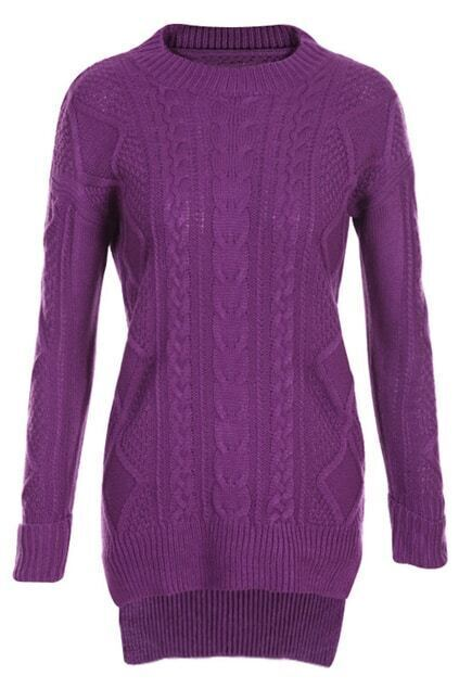 Retro Asymmetric Purple Jumper