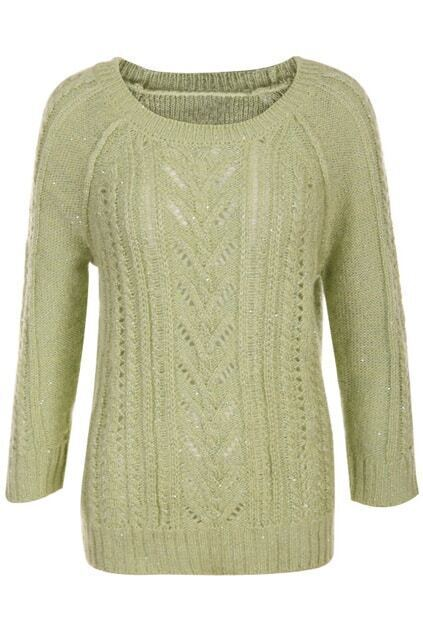 Hollow Light-Green Jumper