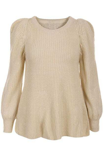 Puff Sleeve Cream Jumper