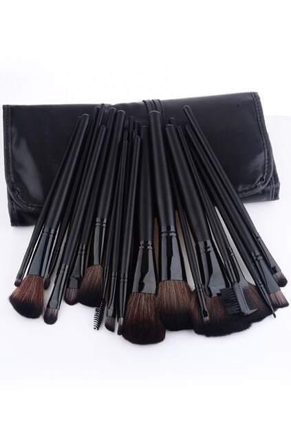 24pcs Makeup Brush Set-black