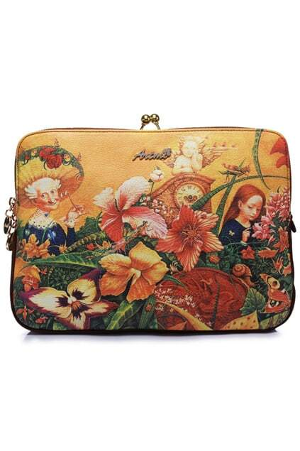 Romwe Oil Painting Angel City Print Bag