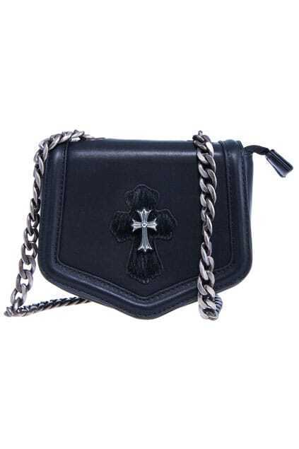 ROMWE Gorgeous Cross Embellished Faux Leather Bag