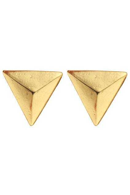 Solid Triangle Shaped Earrings
