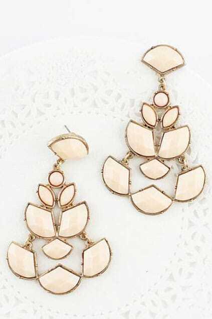 Jewelled Geometric Drop Earrings