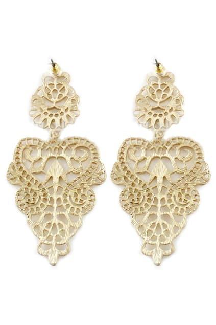 ROMWE Cut-out Earrings