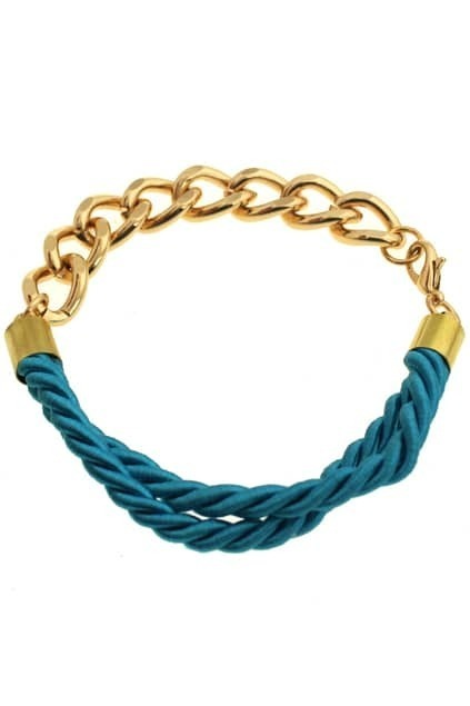 Rope Chunky Golden Chain Bracelet