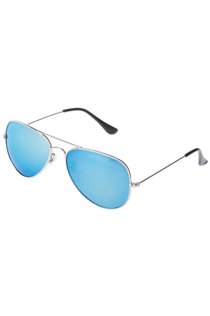 Aviator Sunglasses With Blue Revo Lens