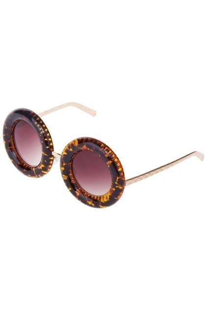 Leopard Chunky Rounded Frames Sunglasses