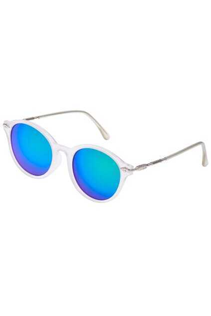 ROMWE Iridescent Green White Sunglasses