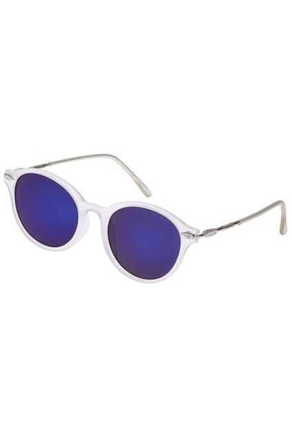 ROMWE Iridescent Blue White Sunglasses
