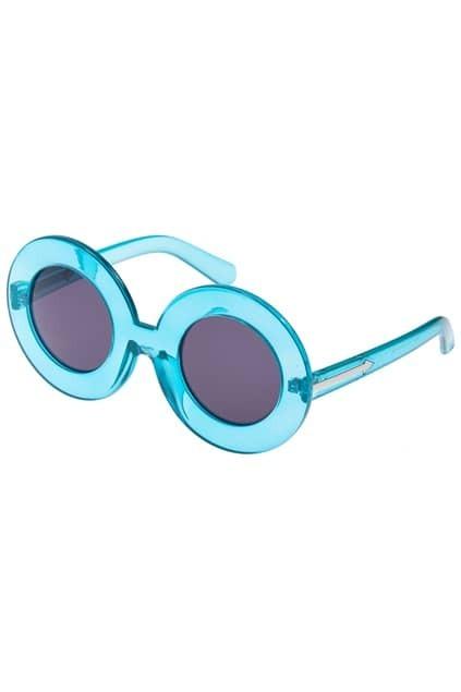 ROMWE Blue Chunky Round Sunglasses
