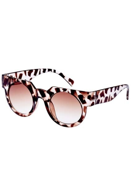 ROMWE Light Tawny Chunky Sunglasses