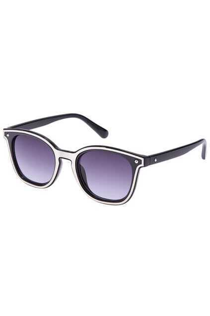 ROMWE Silver Rim Black Sunglasses