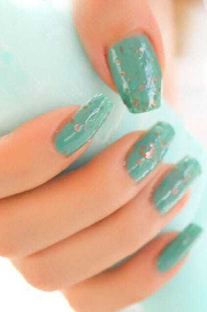 Blue Art Twinkle Decorative Nail Polish 14MLFor Women-romwe