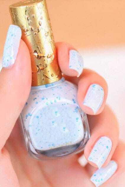 Light Blue Art Twinkle Decorative Nail Polish 14MLFor