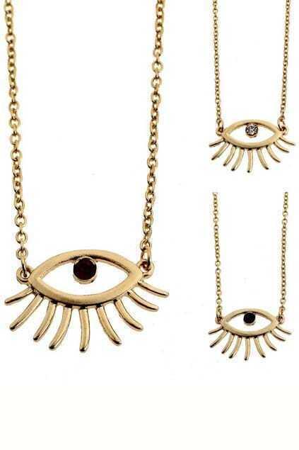 Hollow Eye Pendant Necklace