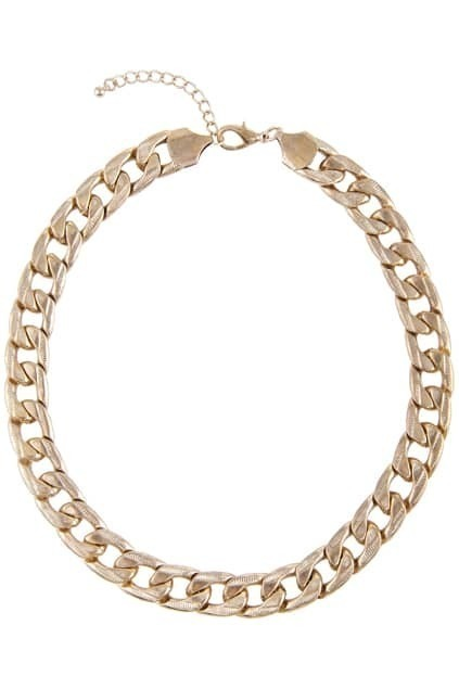 Ginning Wide Curb Chain Necklace