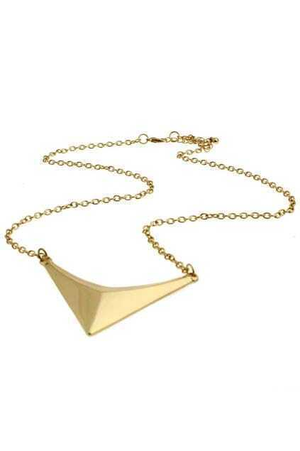 Stereo Triangle Pendant Necklace