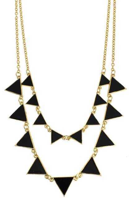 Triangle-Shaped Pendant Necklace
