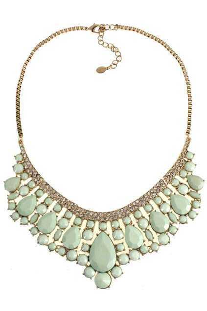 Jeweled Diamante Pendant Necklace
