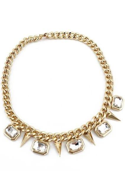 Spikes Diamante Pendant Necklace