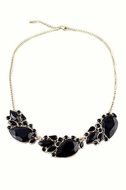 ROMWE Drop Shaped Pendant Necklace