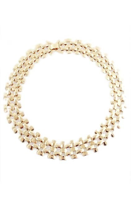 ROMWE Hollow out Wide Golden Necklace