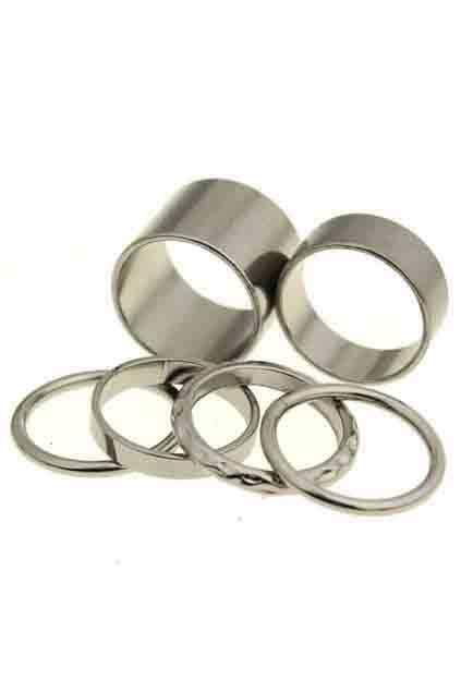 Multipack Circular Silver Ring