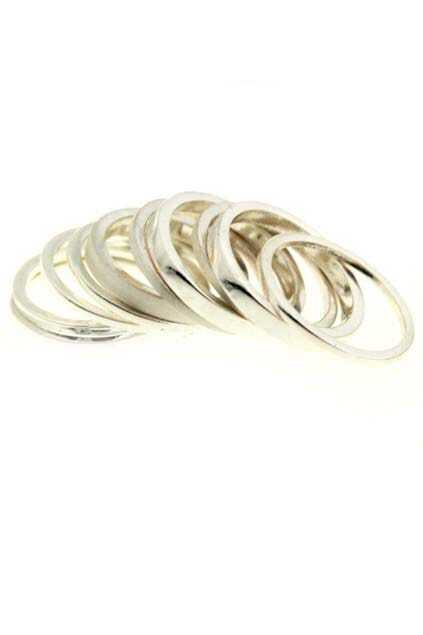 Multipack Silver Slim Ring